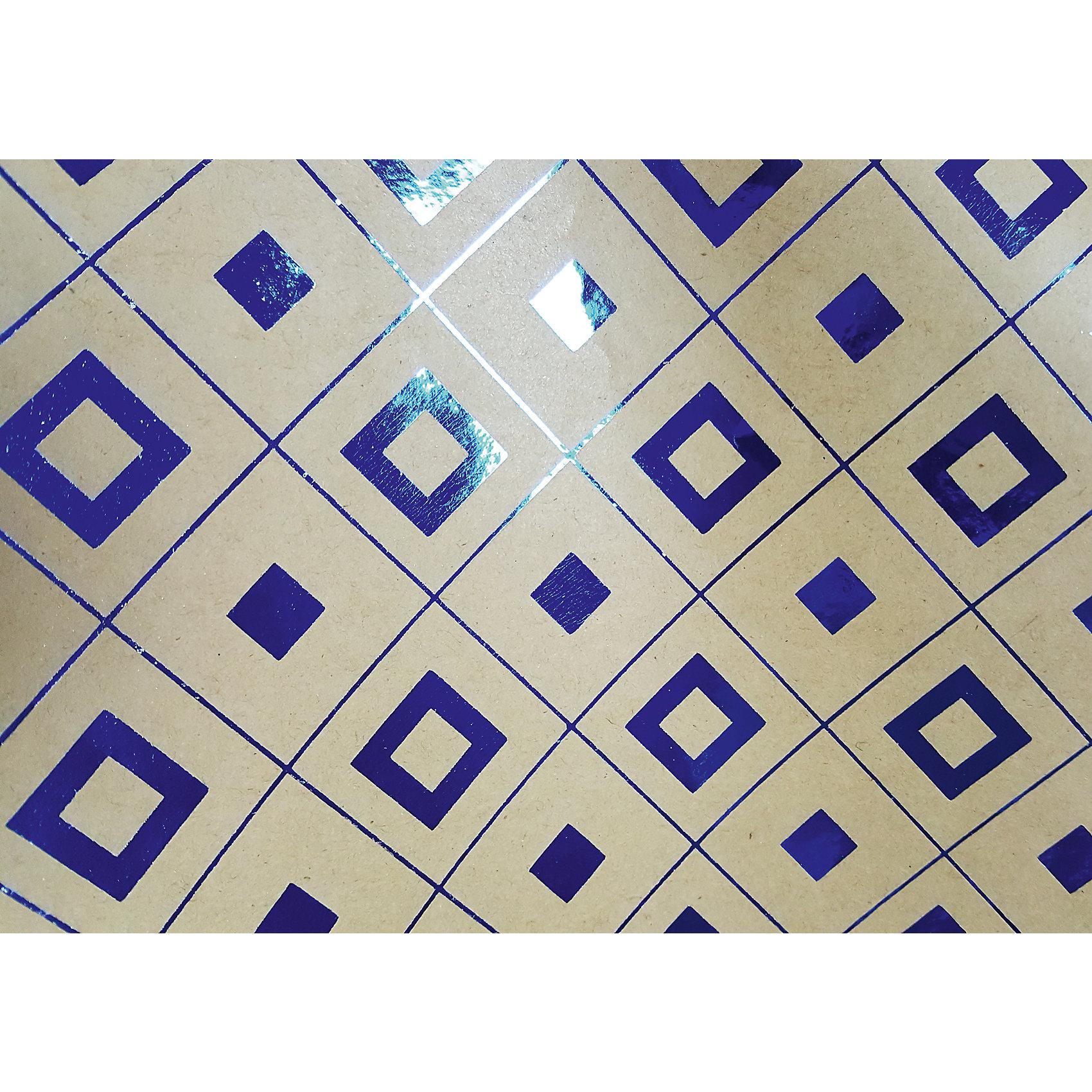 Крафт бумага Синяя геометрия для сувенирной продукции в листах от myToys