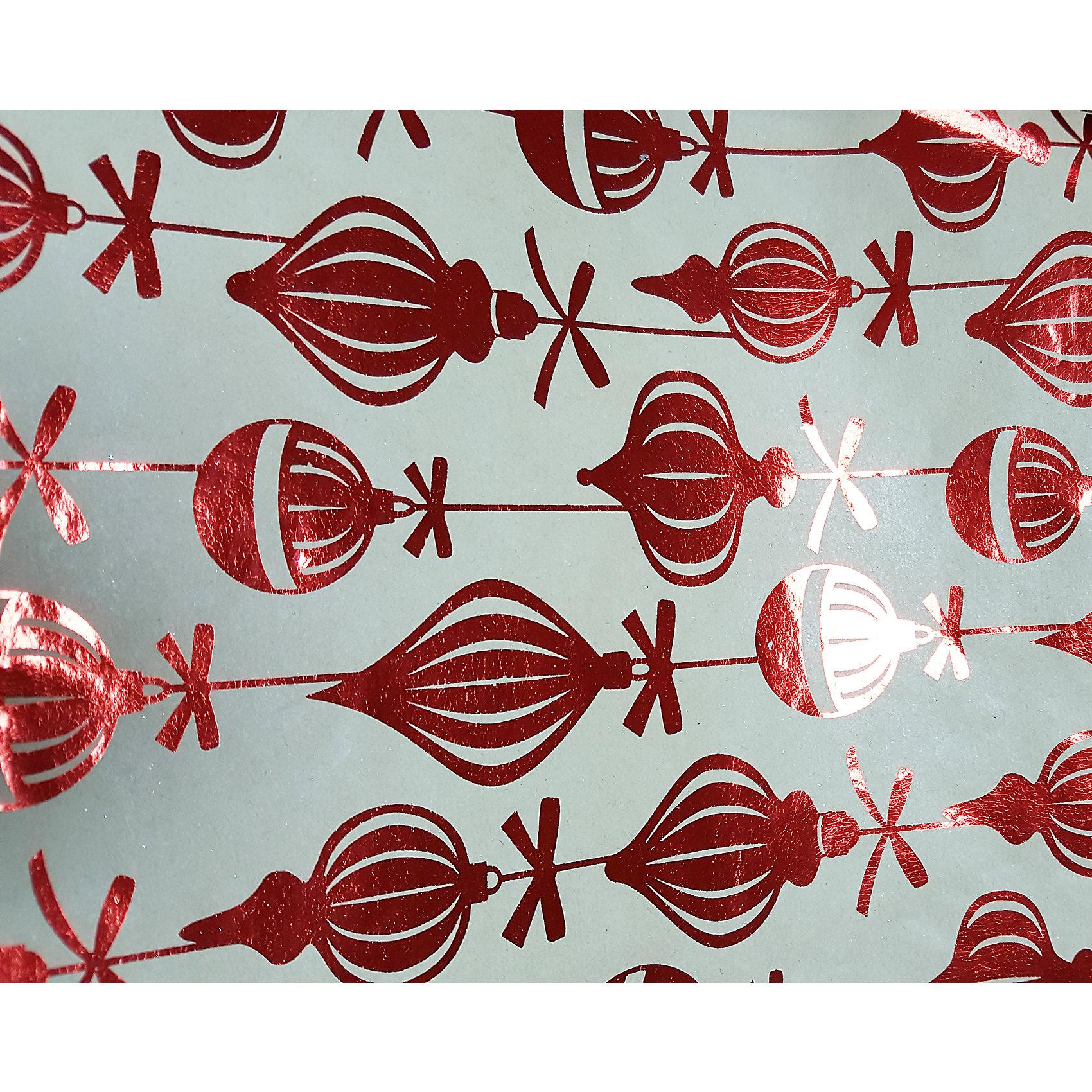 Крафт бумага Красные шары для сувенирной продукции в листах от myToys