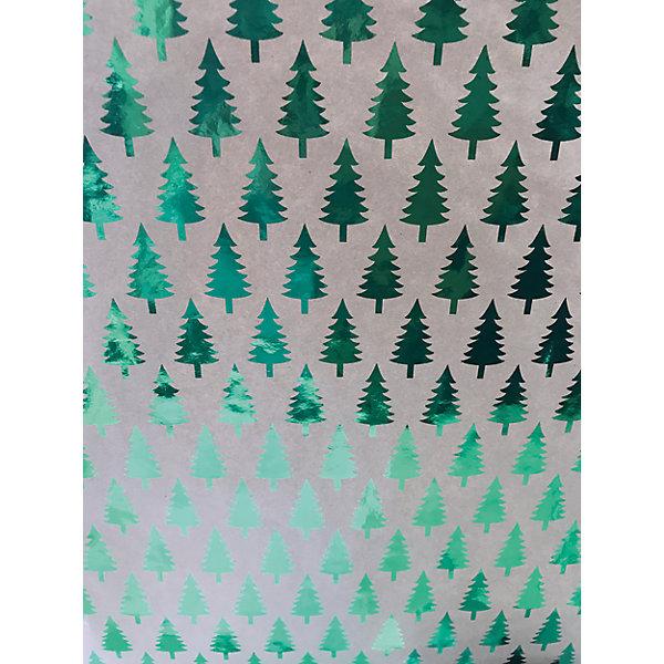 Крафт бумага Зеленые елочки для сувенирной продукции в листахНовогодняя упаковочная бумага<br>Характеристики:<br><br>• размер листа: 100х70 см;<br>• плотность бумаги: 60 г/м2;<br>• масса: 49 г.<br><br>Красочная упаковочная бумага поможет красиво оформить подарок для взрослого или ребенка. Тематический новогодний принт гармонично подойдет для праздничного сюрприза.<br><br>Большие листы немелованной бумаги оформлены полноцветным декоративным рисунком. Каждый лист аккуратно свернут в рулончик, поэтому не имеет сгибов и заломов.<br><br>Одного листа будет достаточно для упаковки подарка среднего размера, для большего объема необходимо приобрести несколько листов одной расцветки или скомбинировать несколько видов одной цветовой гаммы.<br><br>Крафт бумага «Зеленые елочки» для сувенирной продукции, Magic Time можно купить в нашем интернет-магазине.<br>Ширина мм: 700; Глубина мм: 30; Высота мм: 30; Вес г: 49; Возраст от месяцев: 36; Возраст до месяцев: 2147483647; Пол: Унисекс; Возраст: Детский; SKU: 7317257;
