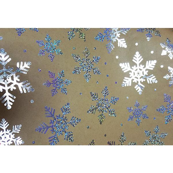 Крафт бумага Серебряные снежинки для сувенирной продукцииНовогодняя упаковочная бумага<br>Характеристики:<br><br>• размер листа: 100х70 см;<br>• плотность бумаги: 60 г/м2;<br>• масса: 49 г.<br><br>Красочная упаковочная бумага поможет красиво оформить подарок для взрослого или ребенка. Тематический новогодний принт гармонично подойдет для праздничного сюрприза.<br><br>Большие листы немелованной бумаги оформлены полноцветным декоративным рисунком. Каждый лист аккуратно свернут в рулончик, поэтому не имеет сгибов и заломов.<br><br>Одного листа будет достаточно для упаковки подарка среднего размера, для большего объема необходимо приобрести несколько листов одной расцветки или скомбинировать несколько видов одной цветовой гаммы.<br><br>Крафт бумага «Серебряные снежинки» для сувенирной продукции, Magic Time можно купить в нашем интернет-магазине.<br>Ширина мм: 700; Глубина мм: 30; Высота мм: 30; Вес г: 49; Возраст от месяцев: 36; Возраст до месяцев: 2147483647; Пол: Унисекс; Возраст: Детский; SKU: 7317258;