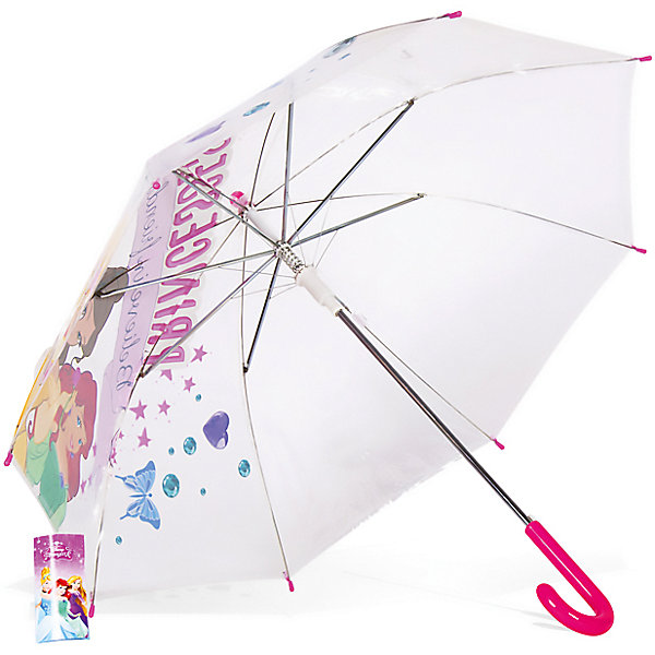 Зонт детский Принцесса Белль, Ариэль и Аврора, DisneyЗонты детские<br>Характеристики:<br><br>• детский зонтик для девочек;<br>• автоматический зонт;<br>• размер стержня: 50 см;<br>• материал купола: термопластичный полиолефиновый эластомер;<br>• материал ручки: пластик;<br>• материал спиц: металл;<br>• размер упаковки: 65,5х7,5х7 см;<br>• вес: 195 г.<br><br>Детский зонтик укроет девочку от дождя, сохранив сухой ее головку и одежку. Детский зонтик оформлен в стиле принцесс Диснея, купол зонта украшают изображения принцесс Белль, Ариэль и Авроры. <br><br>Зонт детский «Принцесса Белль, Ариэль и Аврора», Disney можно купить в нашем интернет-магазине.<br>Ширина мм: 655; Глубина мм: 75; Высота мм: 70; Вес г: 195; Возраст от месяцев: 36; Возраст до месяцев: 72; Пол: Женский; Возраст: Детский; SKU: 7318599;
