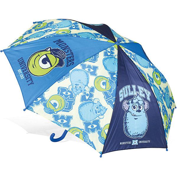 Зонт детский  Университет Монстров Майк и Салли, DisneyЗонты детские<br>Характеристики:<br><br>• детский зонтик для мальчиков;<br>• автоматический зонт;<br>• размер стержня: 50 см;<br>• материал купола: термопластичный полиолефиновый эластомер;<br>• материал ручки: пластик;<br>• материал спиц: металл;<br>• размер упаковки: 65,5х7,5х7 см;<br>• вес: 195 г.<br><br>Детский зонтик укроет мальчика от дождя, сохранив сухой его голову и одежду. Детский зонтик оформлен в стиле мультипликаций Дисней, купол зонта украшают изображения героев Корпорация Монстров. <br><br>Зонт детский Университет Монстров «Майк и Салли», Disney можно купить в нашем интернет-магазине.<br>Ширина мм: 655; Глубина мм: 75; Высота мм: 70; Вес г: 240; Возраст от месяцев: 36; Возраст до месяцев: 72; Пол: Унисекс; Возраст: Детский; SKU: 7318604;