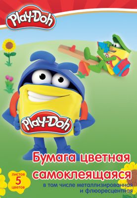 Академия Групп Самоклеещаяся Цветная Бумага Академия Групп Play-Doh , 10 Листов