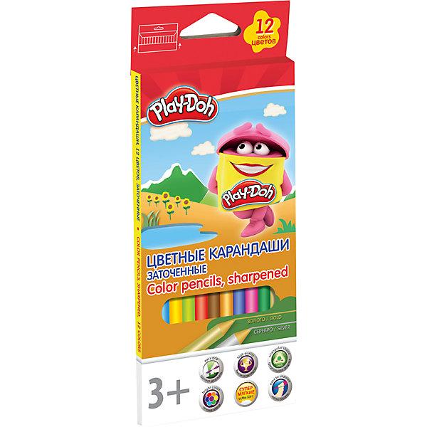 Цветные карандаши Академия Групп Play-Doh, 12 цветовЦветные<br>Характеристики:<br><br>• цветные карандаши для детского творчества;<br>• количество в наборе: 12 шт.;<br>• тип карандашей: трехгранные;<br>• диаметр грифеля: 3 мм;<br>• длина: 17,8 см;<br>• материал: розовое дерево;<br>• логотип: тиснение «золотом»;<br>• размер упаковки: 21,2х8,7х0,9 см;<br>• вес: 100 г.<br><br>Цветные карандаши позволяют малышу изображать на бумаге свои фантазии, воспроизводить увиденное, совершенствовать художественные навыки. Трехгранная форма корпуса прививает навык правильно держать пишущий инструмент.<br><br>Цветные карандаши, 12 шт 12 цв. Play-Doh можно купить в нашем интернет-магазине.<br>Ширина мм: 9; Глубина мм: 87; Высота мм: 212; Вес г: 100; Возраст от месяцев: 36; Возраст до месяцев: 72; Пол: Унисекс; Возраст: Детский; SKU: 7319927;