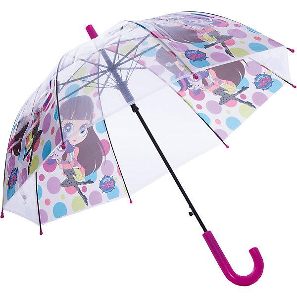 Зонт-трость Академия Групп Littlest Pet ShopЗонты детские<br>Характеристики:<br><br>• детский зонтик защищает ребенка в дождливую погоду;<br>• тип раскладывания: автоматический;<br>• тип складывания: механический;<br>• металлические части закрыты пластиком;<br>• материал ручки: пластик;<br>• материал купола: термопластичный полиолефиновый эластомер;<br>• застежка-липучка;<br>• размер стержня: 62 см<br>• размер упаковки: 63х5,7х5,7 см.<br>• вес: 270 г.<br><br>Детский зонтик укроет девочку от дождя, сохранив сухой ее головку и одежку. Детский зонтик оформлен в стиле Littlest Pet Shop, купол зонта украшают изображения пет-шопов.<br><br>Детский зонт-трость Littlest Pet Shop можно купить в нашем интернет-магазине.<br><br>Ширина мм: 630<br>Глубина мм: 57<br>Высота мм: 57<br>Вес г: 270<br>Возраст от месяцев: 36<br>Возраст до месяцев: 72<br>Пол: Женский<br>Возраст: Детский<br>SKU: 7319941