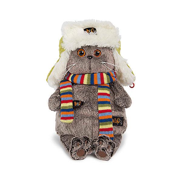 Мягкая игрушка Budi Basa Кот Басик в зимней шапке, 25 смМягкие игрушки-кошки<br>Характеристики товара:<br><br>• возраст: от 3 лет;<br>• материал: текстиль, искусственный мех;<br>• высота игрушки: 27 см;<br>• размер упаковки: 27х16х14 см;<br>• вес упаковки: 483 гр.;<br>• страна производитель: Россия.<br><br>Мягкая игрушка «Басик в зимней шапке» Budi Basa - очаровательный пушистый котенок с добрыми глазками. На котике шапка-ушанка и шарф. Игрушка выполнена из качественного безопасного материала, настолько приятного и мягкого, что ребенок будет братьего с собой на прогулку или в кроватку и спать в обнимку.<br><br>Мягкую игрушку «Басик в зимней шапке» Budi Basa можно приобрести в нашем интернет-магазине.<br><br>Ширина мм: 270<br>Глубина мм: 160<br>Высота мм: 140<br>Вес г: 483<br>Возраст от месяцев: 36<br>Возраст до месяцев: 2147483647<br>Пол: Унисекс<br>Возраст: Детский<br>SKU: 7319972