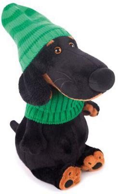 Мягкая игрушка Budi Basa Собака Ваксон в зеленой шапке и шарфе, 25 см фото-1