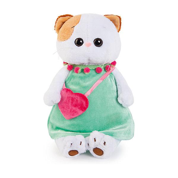 Мягкая игрушка Budi Basa Кошка Ли-Ли в мятном платье с розовой сумочкой, 27 смМягкие игрушки-кошки<br>Характеристики товара:<br><br>• возраст: от 3 лет;<br>• материал: текстиль, искусственный мех;<br>• высота игрушки: 24 см;<br>• размер упаковки: 27х16х14 см;<br>• вес упаковки: 440 гр.;<br>• страна производитель: Россия.<br><br>Мягкая игрушка «Ли-Ли в мятном платье с розовой сумочкой» Budi Basa — очаровательная пушистая белоснежная кошечка с большими глазками и оранжевыми ушками. <br><br>Игрушка выполнена из качественного безопасного материала, настолько приятного и мягкого, что ребенок будет брать с собой котенка в кроватку и спать в обнимку.<br><br>Мягкую игрушку «Ли-Ли в мятном платье с розовой сумочкой» Budi Basa можно приобрести в нашем интернет-магазине.<br><br>Ширина мм: 320<br>Глубина мм: 180<br>Высота мм: 155<br>Вес г: 550<br>Возраст от месяцев: 36<br>Возраст до месяцев: 2147483647<br>Пол: Унисекс<br>Возраст: Детский<br>SKU: 7320003