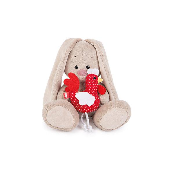 Мягкая игрушка Budi Basa Зайка Ми с петушком, 18 смМягкие игрушки животные<br>Характеристики товара:<br><br>• возраст: от 3 лет;<br>• материал: текстиль, искусственный мех;<br>• высота игрушки: 18 см;<br>• размер упаковки: 15х14х15 см;<br>• вес упаковки: 270 гр.;<br>• страна производитель: Россия.<br><br>Мягкая игрушка «Зайка Ми» с петушком — очаровательный пушистый зайчонок с длинными ушками. В лапках у Зайки Ми маленький красный петушок. <br><br>Игрушка выполнена из качественного безопасного материала, настолько приятного и мягкого, что ребенок будет брать с собой зайку в кроватку и спать в обнимку.<br><br>Мягкую игрушку «Зайка Ми» с петушком можно купить в нашем интернет-магазине.<br>Ширина мм: 150; Глубина мм: 140; Высота мм: 150; Вес г: 270; Возраст от месяцев: 36; Возраст до месяцев: 2147483647; Пол: Унисекс; Возраст: Детский; SKU: 7320007;