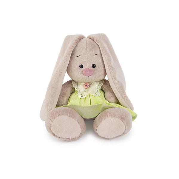 Мягкая игрушка Budi Basa Зайка Ми в сарафане с кружевной бабочкой, 18 смМягкие игрушки зайцы и кролики<br>Характеристики товара:<br><br>• возраст: от 3 лет;<br>• материал: текстиль, искусственный мех;<br>• высота игрушки: 15 см;<br>• размер упаковки: 15х14х15 см;<br>• вес упаковки: 270 гр.;<br>• страна производитель: Россия.<br><br>Мягкая игрушка «Зайка Ми» в сарафане с кружевной бабочкой — очаровательный пушистый зайчонок с длинными ушками. Зайка Ми одета в салатовый сарафан. <br><br>Игрушка выполнена из качественного безопасного материала, настолько приятного и мягкого, что ребенок будет брать с собой зайку в кроватку и спать в обнимку.<br><br>Мягкую игрушку «Зайка Ми» в сарафане с кружевной бабочкой можно купить в нашем интернет-магазине.<br><br>Ширина мм: 150<br>Глубина мм: 140<br>Высота мм: 150<br>Вес г: 270<br>Возраст от месяцев: 36<br>Возраст до месяцев: 2147483647<br>Пол: Унисекс<br>Возраст: Детский<br>SKU: 7320008