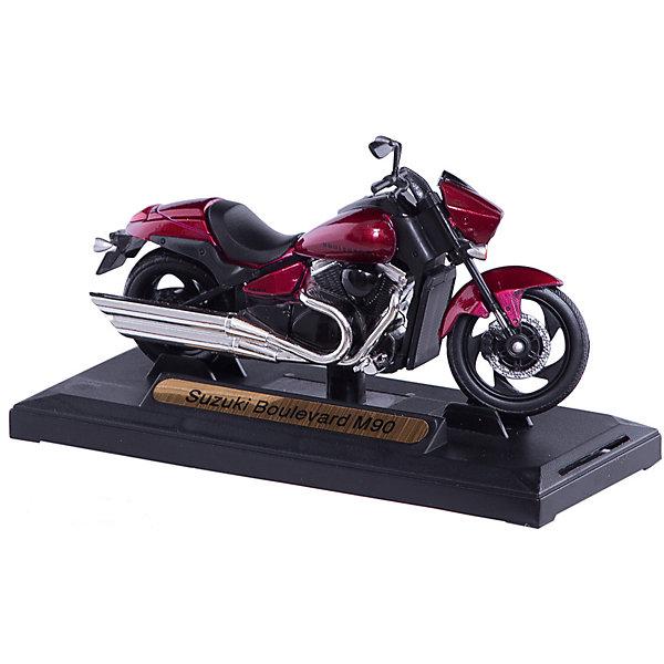 Коллекционный мотоцикл Autotime Suzuki Boulevard M90 1:18Машинки<br>Характеристики товара:<br><br>• возраст: от 3 лет;<br>• материал: пластик, металл;<br>• масштаб: 1:18;<br>• размер упаковки: 13,7х7х5,7 см;<br>• вес упаковки: 156 гр.;<br>• страна производитель: Китай.<br><br>Мотоцикл «Suzuki Boulevard M90» Autogrand представляет собой уменьшенную копию мотоцикла. У него поворачивается переднее колесо. Выполнена игрушка из качественных прочных материалов.<br><br>Мотоцикл «Suzuki Boulevard M90» Autogrand можно приобрести в нашем интернет-магазине.<br><br>Ширина мм: 137<br>Глубина мм: 70<br>Высота мм: 57<br>Вес г: 156<br>Возраст от месяцев: 36<br>Возраст до месяцев: 2147483647<br>Пол: Мужской<br>Возраст: Детский<br>SKU: 7320073