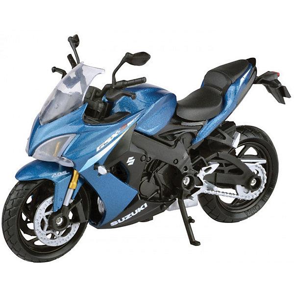 Коллекционный мотоцикл Autotime Suzuki GSX-S1000F ABS 1:18Машинки<br>Характеристики товара:<br><br>• возраст: от 3 лет;<br>• материал: пластик, металл;<br>• масштаб: 1:18;<br>• размер упаковки: 16х11х7 см;<br>• вес упаковки: 141 гр.;<br>• страна производитель: Китай.<br><br>Мотоцикл «Suzuki GSX-S1000F ABS» Autogrand представляет собой уменьшенную копию мотоцикла. У него поворачивается переднее колесо. Выполнена игрушка из качественных прочных материалов.<br><br>Мотоцикл «Suzuki GSX-S1000F ABS» Autogrand можно приобрести в нашем интернет-магазине.<br><br>Ширина мм: 160<br>Глубина мм: 110<br>Высота мм: 70<br>Вес г: 141<br>Возраст от месяцев: 36<br>Возраст до месяцев: 2147483647<br>Пол: Мужской<br>Возраст: Детский<br>SKU: 7320074