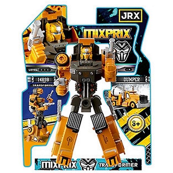 Робот-трансформер JRX Mixprix, БетономешалкаТрансформеры-игрушки<br>Характеристики товара:<br><br>• возраст: от 3 лет;<br>• материал: пластик, металл;<br>• высота робота: 15 см;<br>• размер упаковки: 27х22х8 см;<br>• вес упаковки: 326 гр.;<br>• страна производитель: Китай.<br><br>Трансформер-строитель «Gambit Бетономешалка» JRX представляет собой робота, который способен трансформироваться в строительную бетономешалку. Трансформация происходит легко и просто, занимает всего пару минут и не создаст трудностей даже для маленьких детей. Игрушка выполнена из качественного безопасного пластика.<br><br>Трансформера-строителя «Gambit Бетономешалка» JRX можно приобрести в нашем интернет-магазине.<br>Ширина мм: 270; Глубина мм: 220; Высота мм: 80; Вес г: 326; Возраст от месяцев: 36; Возраст до месяцев: 2147483647; Пол: Мужской; Возраст: Детский; SKU: 7320098;