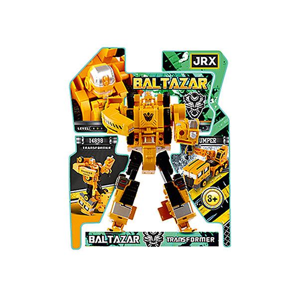 Робот-трансформер JRX Hunter, СамосвалТрансформеры-игрушки<br>Характеристики товара:<br><br>• возраст: от 3 лет;<br>• материал: пластик, металл;<br>• высота робота: 15 см;<br>• размер упаковки: 27х22х8 см;<br>• вес упаковки: 326 гр.;<br>• страна производитель: Китай.<br><br>Трансформер-строитель «Gambit Самосвал» JRX представляет собой робота, который способен трансформироваться в строительныйсамосвал. Трансформация происходит легко и просто, занимает всего пару минут и не создаст трудностей даже для маленьких детей. Игрушка выполнена из качественного безопасного пластика.<br><br>Трансформера-строителя «Gambit Самосвал» JRX можно приобрести в нашем интернет-магазине.<br>Ширина мм: 270; Глубина мм: 220; Высота мм: 80; Вес г: 326; Возраст от месяцев: 36; Возраст до месяцев: 2147483647; Пол: Мужской; Возраст: Детский; SKU: 7320100;