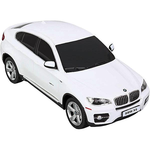Радиоуправляемая машина Rastar BMW X6 1:24, белаяРадиоуправляемые машины<br>Характеристики товара:<br><br>• серия: BMW;<br>• возраст: от 3 лет;<br>• цвет: белый;<br>• масштаб: 1:24;<br>В комплекте:<br>• машина; <br>• пульт дистанционного управления;<br>• инструкция;<br>• наличие батареек: не входят в комплект;<br>• тип батареек: для машинки — 3 х AA / LR6 1.5V, для пульта — 2 х AA / LR6 1.5V;<br>• дальность действия: 15-45 м.;<br>• из чего сделана игрушка (состав): высококачественная пластмасса, металл, резина;<br>• размер упаковки: 28,5х14х12 см;<br>• размер машинки: 20,3х8,3х7 см.;<br>• вес: 0,44 кг.;<br>• время работы: 45 мин.;<br>• максимальная скорость: 7 км/ч.;<br>• упаковка: картонная коробка с блистером;<br>• страна-производитель: КНР.<br><br>BMW X6 — среднеразмерный люксовый кроссовер, сочетающий как признаки внедорожника — полный привод, большие колеса, увеличенный дорожный просвет, так и признаки купе.<br><br>Радиоуправляемая модель BMW X6 от Rastar — это максимально достоверная копия оригинального автомобиля в масштабе 1:24. Корпус модели и детали изготовлены из металла и высококачественной пластмассы, шины из мягкой резины. Машинка управляется пультом, который входит в комплект. Она двигается в четырех направлениях — вперед, назад, вправо, влево. Во время езды фары светятся, а при торможении и движении назад работают стоп-сигналы.<br><br>Управлять таким высококлассным автомобилем — сплошное удовольствие! С машинкой можно играть одному и с друзьями, соревнуясь в скорости и маневренности!<br><br>Машину BMW Х6 1:24 со светом, на радио управлении, RASTAR можно купить в нашем интернет-магазине.<br>Ширина мм: 9999; Глубина мм: 9999; Высота мм: 9999; Вес г: 440; Возраст от месяцев: 36; Возраст до месяцев: 2147483647; Пол: Мужской; Возраст: Детский; SKU: 7320815;