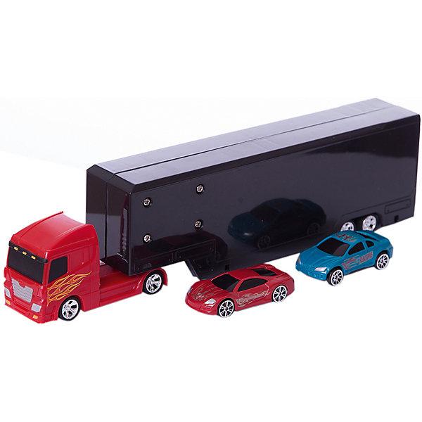 Автомойка в грузовике Autotime Color twisters water Rasing Transporter-2, с 2-мя машинкамиМашинки<br>Характеристики:<br><br>• возраст: от 3 лет;<br>• тип игрушки: легковой транспорт;<br>• особенности: машинка меняет цвет в воде;<br>• материал: пластик, металл;<br>• размер: 45,7х17,8х5,1 см;<br>• вес: 665 гр;<br>• страна бренда: США;<br>• страна производитель: Китай;<br>• тип упаковки: коробка с окошком;<br>• бренд: Autogrand.<br><br>Машина Autogrand «COLOR TWISTERS WATER RACING TRANSPORTER-2» ассортимент - это новое поколение машинок. Это связанно с тем, что корпус машинок имеет свойство менять цвет и дизайн в зависимости от температуры воды, в которую машинки попадают.  <br><br>Цвет автомобиля меняется при изменении температуры. Для того, чтобы быстро изменить цвет корпуса автомобиля, нужно просто опустить его в горячую или холодную воду. При комнатной температуре она постепенно будет возвращаться в свой цвет. Чтобы моментально вернуть первоначальный вид автомобиля, достаточно просто опустить его в горячую воду. Если холодная вода попадает не на весь корпус, а частично, цвет будут менять только те части автомобиля, на которые попадала вода. <br><br>Машина изготовлена из литого металла и пластмассы. Машинка сделана из безопасных материалов. В комплекте грузовик, аксессуары, 2 машинки. Так же красители, которыми окрашены все части автомобиля являются гипоаллергенными и не навредят здоровью ребенка. Игрушка прошла все необходимые проверки и получили все сертификаты качества.<br><br>Машину от бренда Autogrand «COLOR TWISTERS WATER RACING TRANSPORTER-2» можно купить в нашем интернет-магазине.<br>Ширина мм: 457; Глубина мм: 178; Высота мм: 51; Вес г: 665; Возраст от месяцев: 36; Возраст до месяцев: 2147483647; Пол: Мужской; Возраст: Детский; SKU: 7321063;