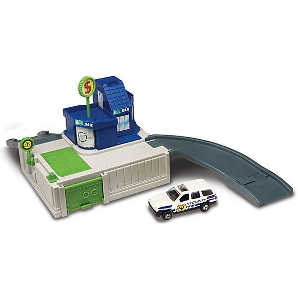 Игровой набор Autotime Megapolis Банк с машинойПарковки и гаражи<br>Характеристики:<br><br>• возраст: от 3 лет;<br>• тип игрушки:набор;<br>• материал: пластик, металл;<br>• размер: 15,5х21,6х6,4 см;<br>• вес: 392 гр;<br>• страна бренда: США;<br>• страна производитель: Китай;<br>• тип упаковки: коробка с окошком;<br>• бренд: Autogrand.<br><br>Набор транспортный Autogrand «MEGAPOLIS» банк с маш. 1:60 включает в себя здание из пластика и машинку в масштабе 1:60. Это новое поколение машинок, которые пришлись по вкусу мальчикам от трех лет и старше. <br><br>Машина изготовлена из литого металла и пластмассы. Машинка сделана из безопасных материалов, разрешенных для детей. Так же красители, которыми окрашены все части автомобиля являются гипоаллергенными и не навредят здоровью ребенка. Игрушка прошла все необходимые проверки и получили все сертификаты качества.<br><br>Набор транспортный Autogrand «MEGAPOLIS» банк с маш. 1:60 можно купить в нашем интернет-магазине.<br>Ширина мм: 155; Глубина мм: 216; Высота мм: 64; Вес г: 392; Возраст от месяцев: 36; Возраст до месяцев: 2147483647; Пол: Мужской; Возраст: Детский; SKU: 7321065;