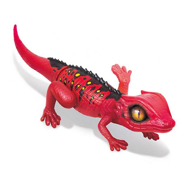 Интерактивная игрушка Zuru Робо-ящерица, красная (движение)Интерактивные животные<br>Характеристики:<br><br>• роботизированная игрушка;<br>• ящерица быстро бегает и шевелит конечностями;<br>• светоотражающие глаза;<br>• высокая детализация;<br>• для остановки ящерицы необходимо взять ее на руки и поднять голову;<br>• тип батареек: 2 шт. типа АА LR6 1.5V;<br>• батарейки приобретаются отдельно;<br>• материал: пластик, металл, резина;<br>• размер упаковки: 40х13х10 см;<br>• вес: 394 г.<br><br>Роботизированная игрушка робо-ящерица – настоящий домашний питомец, который умеет быстро бегать и шевелить конечностями. Затаившаяся робо-ящерица Zuru – интерактивная игрушка, наделена способностью к движению. Длина ящерицы составляет 35 см.<br><br>Игрушку Робо-ящерица Zuru RoboAlive, красную можно купить в нашем интернет-магазине.<br>Ширина мм: 100; Глубина мм: 400; Высота мм: 130; Вес г: 394; Цвет: красный; Возраст от месяцев: 36; Возраст до месяцев: 2147483647; Пол: Унисекс; Возраст: Детский; SKU: 7321843;