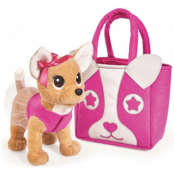Мягкая игрушка Simba Chi-Сhi Love Собачка Модница с сумочкой, 20 смМягкие игрушки-собаки<br>Характеристики товара:<br><br>• возраст: от 5 лет;<br>• цвет: бежевый, розовый;<br>• комплект: собачка, сумочка;<br>• высота игрушки: 20 см.;<br>• состав: пластик, текстиль, наполнитель;<br>• упаковка: картонная коробка блистерного типа;<br>• вес в упаковке: 700 гр.;<br>• бренд, страна: Simba, Германия.<br><br>Плюшевая собачка «Чи-Чи Лав. Модница»-  это забавный питомец от немецкого производителя Simba. <br><br>Собачка одета в красочный наряд с прозрачной юбочкой, а ее ушко украшает аккуратный бантик. Такой модный и милый домашний зверек приведет в восторг любую девочку. Он изготовлен из приятной на ощупь ткани, что делает игру с ним настоящим удовольствием. К тому же, с таким щеночком можно даже спать в обнимку, ведь внутри него мягкий наполнитель.<br><br>В наборе также имеется переносная сумочка для этого карманного питомца. Ее яркий и стильный дизайн не оставит равнодушной ни одну маленькую модницу. С таким удобным аксессуаром малышка сможет брать с собой своего любимца куда угодно. <br><br>Игрушки от бренда Simba выполнены из высокачественного гипоаллергенного материала безвредного для детского здоровья.<br><br>Плюшевую собачку «Чи-Чи Лав. Модница», 20 см,  Simba можно купить в нашем интернет-магазине.<br><br>Ширина мм: 270<br>Глубина мм: 170<br>Высота мм: 300<br>Вес г: 700<br>Возраст от месяцев: 60<br>Возраст до месяцев: 168<br>Пол: Женский<br>Возраст: Детский<br>SKU: 7322620