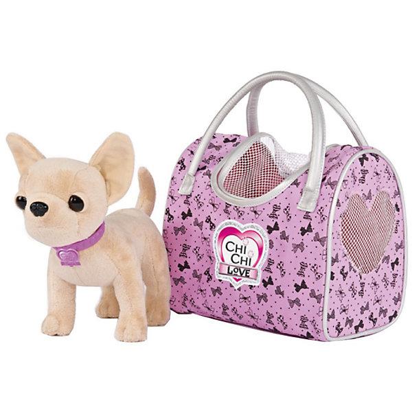 Мягкая игрушка Simba Chi-Сhi Love Собачка Чихуахуа Путешественница с сумочкой, 20 смМягкие игрушки-собаки<br>Характеристики товара:<br><br>• возраст: от 5 лет;<br>• цвет: бежевый, розовый;<br>• комплект: собачка, сумочка;<br>• высота игрушки: 20 см.;<br>• состав: пластик, текстиль, наполнитель;<br>• упаковка: картонная коробка блистерного типа;<br>• вес в упаковке: 400 гр.;<br>• бренд, страна: Simba, Германия.<br><br>Плюшевая собачка «Чи-Чи Лав. Путешественница»-  от германского бренда Simba приведет в восторг любую девочку, мечтающую завести для себя маленького питомца. <br><br>Данная замечательная собачка, сшитая из необычайно приятного на ощупь плюша и гипоаллергенного наполнителя с использованием высококачественной фурнитуры, представлена в шикарной прогулочной сумочке с серебристыми ручками и окошками в виде сердечек. <br><br>Комплект может послужить ребенку отличным подарком, который не останется у него без внимания. Игрушки от бренда Simba выполнены из высокачественного гипоаллергенного материала безвредного для детского здоровья.<br><br>Плюшевую собачку «Чи-Чи Лав. Путешественница», 20 см,  Simba можно купить в нашем интернет-магазине.<br>Ширина мм: 150; Глубина мм: 260; Высота мм: 200; Вес г: 400; Возраст от месяцев: 60; Возраст до месяцев: 168; Пол: Женский; Возраст: Детский; SKU: 7322621;