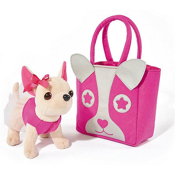 Мягкая игрушка Simba Chi-Сhi Love Собачка Чихуахуа с розовой  сумочкой, 20 смМягкие игрушки-собаки<br>Характеристики товара:<br><br>• возраст: от 5 лет;<br>• цвет: бежевый, розовый;<br>• комплект: собачка, сумочка;<br>• высота игрушки: 20 см.;<br>• состав: пластик, текстиль, наполнитель;<br>• упаковка: картонная коробка блистерного типа;<br>• вес в упаковке: 700 гр.;<br>• бренд, страна: Simba, Германия.<br><br>Плюшевая собачка «Чи-Чи Лав. Чихуахуа»-  комплект включает в себя плюшевую чихуахуа в натуральную величину, и дополнен розовой сумочкой, которая понравится юным модницам. <br><br>Этот плюшевый питомец может стать участником ролевых игр, на нем можно практиковать шитье модной одежды. В комплекте собачка, уже одетая в розовую рубашку и украшенная розовым бантиком. Сумка декорирована изображением собачки и выполнена с расчетом на то, чтобы вместить туда собачку.<br><br>Комплект может послужить ребенку отличным подарком, который не останется у него без внимания. Игрушки от бренда Simba выполнены из высокачественного гипоаллергенного материала безвредного для детского здоровья.<br><br>Плюшевую собачку «Чи-Чи Лав. Чихуахуа», 20 см,  Simba можно купить в нашем интернет-магазине.<br><br>Ширина мм: 170<br>Глубина мм: 310<br>Высота мм: 280<br>Вес г: 700<br>Возраст от месяцев: 60<br>Возраст до месяцев: 168<br>Пол: Женский<br>Возраст: Детский<br>SKU: 7322625