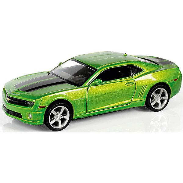 Металлическая машинка RMZ City Chevrolet Camaro 1:32, зеленый металликМашинки<br>Характеристики:<br><br>• возраст: от 3 лет;<br>• тип игрушки: легковой транспорт;<br>• вес: 186 гр;<br>• масштаб: 1:32;<br>• цвет: зеленый;<br>• особенности: инерционная;<br>• материал: пластик, металл;<br>• размер: 16,5х7,5х7 см;<br>• тип упаковки: коробка с окошком;<br>• бренд: RMZ City<br><br>Машина металлическая RMZ City 1:32 Chevrolet Camaro станет отличным подарком для мальчиков от трех лет и старше. Такой набор включает в себя машинку цвета зеленый металлик.  Упаковка сделана с окошком и подходит в качестве подарочной.<br><br>Особенность игрушки состоит в том, что машинка инерционная. Коллекционные машинки порадуют любителей автогонок, ведь из них можно собрать целый автопарк. Машина отлично развивает скорость на гладкой поверхности, если ее подтолкнуть, и в точности повторяет внешний вид настоящего автомобиля. <br><br>Машинка сделана из безопасных материалов. Так же красители, которыми окрашены все части автомобиля являются гипоаллергенными и не навредят здоровью ребенка. Игрушка прошла все необходимые проверки и получили все сертификаты качества.<br><br>Машину металлическую RMZ City 1:32 Chevrolet Camaro  можно купить в нашем интернет-магазине.<br><br>Ширина мм: 165<br>Глубина мм: 70<br>Высота мм: 75<br>Вес г: 186<br>Возраст от месяцев: 36<br>Возраст до месяцев: 120<br>Пол: Мужской<br>Возраст: Детский<br>SKU: 7322649