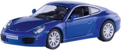 ћеталлическа¤ машинка RMZ City Porsche 911 Carrera S 1:32, синий металлик