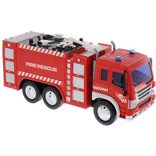 Пожарная машина Dave Toys Junior Tracker 1:16, свет, звукМашинки<br>Характеристики:<br><br>• возраст: от 3 лет;<br>• тип игрушки: водовоз;<br>• вес: 1,25 кг;<br>• масштаб: 1:16;<br>• цвет: красный;<br>• особенности: инерционная, световые, звуковые эффекты;<br>• материал: пластик, металл;<br>• размер: 32,6х11,5х18,6 см;<br>• тип упаковки: коробка;<br>• бренд: Dave Toys.<br><br>Пожарная 1:16 станет отличным подарком для мальчиков от трех лет и старше. Такой набор включает в себя большую пожарную машину красного цвета.  Упаковка сделана подходит в качестве подарочной.<br><br>Особенность игрушки состоит в том, что машинка инерционная, а также имеет световые и звуковые эффекты. Коллекционные машинки порадуют любителей автогонок, ведь из них можно собрать целый автопарк. <br><br>Игрушка характеризуется механическим воздействием, детали машинки приводятся в движение, что создает реалистичные действия реально работающей машины спецтехники. Масштаб машины 1:16. Работает водовоз от батареек, которые находятся в комплекте.<br><br>Машинка сделана из безопасных материалов. Так же красители, которыми окрашены все части автомобиля являются гипоаллергенными и не навредят здоровью ребенка. Игрушка прошла все необходимые проверки и получили все сертификаты качества.<br><br>Пожарная 1:16 можно купить в нашем интернет-магазине.<br><br>Ширина мм: 326<br>Глубина мм: 115<br>Высота мм: 186<br>Вес г: 1250<br>Возраст от месяцев: 36<br>Возраст до месяцев: 120<br>Пол: Мужской<br>Возраст: Детский<br>SKU: 7322658