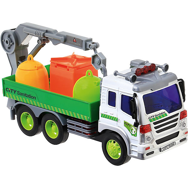 Машина Dave Toys Junior Tracker Погрузчик 1:16, свет, звукМашинки<br>Характеристики:<br><br>• возраст: от 3 лет;<br>• тип игрушки: водовоз;<br>• вес: 1,25 кг;<br>• масштаб: 1:16;<br>• цвет: зеленый, белый, желтый;<br>• особенности: инерционная, световые, звуковые эффекты;<br>• материал: пластик, металл;<br>• размер: 32,6х11,5х18,6 см;<br>• тип упаковки: коробка;<br>• бренд: Dave Toys.<br><br>Погрузчик 1:16 станет отличным подарком для мальчиков от трех лет и старше. Такой набор включает в себя большой погрузчик.  Упаковка сделана подходит в качестве подарочной.<br><br>Особенность игрушки состоит в том, что машинка инерционная, а также имеет световые и звуковые эффекты. Коллекционные машинки порадуют любителей автогонок, ведь из них можно собрать целый автопарк. <br><br>Игрушка характеризуется механическим воздействием, детали машинки приводятся в движение, что создает реалистичные действия реально работающей машины спецтехники. Масштаб машины 1:16. Работает водовоз от батареек, которые находятся в комплекте.<br><br>Машинка сделана из безопасных материалов. Так же красители, которыми окрашены все части автомобиля являются гипоаллергенными и не навредят здоровью ребенка. Игрушка прошла все необходимые проверки и получили все сертификаты качества.<br><br>Погрузчик 1:16 можно купить в нашем интернет-магазине.<br>Ширина мм: 326; Глубина мм: 115; Высота мм: 186; Вес г: 1250; Возраст от месяцев: 36; Возраст до месяцев: 120; Пол: Мужской; Возраст: Детский; SKU: 7322659;