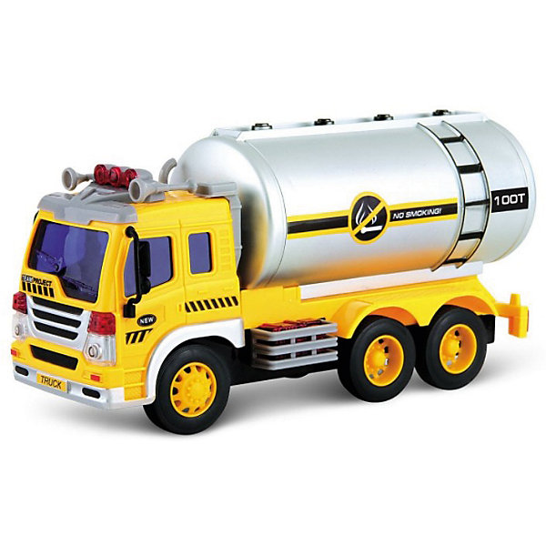 Машина Dave Toys Junior Tracker Нефтевоз 1:16, свет, звукМашинки<br>Характеристики:<br><br>• возраст: от 3 лет;<br>• тип игрушки: водовоз;<br>• вес: 1,25 кг;<br>• масштаб: 1:16;<br>• цвет: желтый;<br>• особенности: инерционная, световые, звуковые эффекты;<br>• материал: пластик, металл;<br>• размер: 32,6х11,5х18,6 см;<br>• тип упаковки: коробка;<br>• бренд: Dave Toys.<br><br>Нефтевоз 1:16  станет отличным подарком для мальчиков от трех лет и старше. Такой набор включает в себя большой нефтевоз желтого цвета.  Упаковка сделана подходит в качестве подарочной.<br><br>Особенность игрушки состоит в том, что машинка инерционная, а также имеет световые и звуковые эффекты. Коллекционные машинки порадуют любителей автогонок, ведь из них можно собрать целый автопарк. <br><br>Игрушка характеризуется механическим воздействием, детали машинки приводятся в движение, что создает реалистичные действия реально работающей машины спецтехники. Масштаб машины 1:16. Работает водовоз от батареек, которые находятся в комплекте.<br><br>Машинка сделана из безопасных материалов. Так же красители, которыми окрашены все части автомобиля являются гипоаллергенными и не навредят здоровью ребенка. Игрушка прошла все необходимые проверки и получили все сертификаты качества.<br><br>Нефтевоз 1:16 можно купить в нашем интернет-магазине.<br>Ширина мм: 326; Глубина мм: 115; Высота мм: 186; Вес г: 1250; Возраст от месяцев: 36; Возраст до месяцев: 120; Пол: Мужской; Возраст: Детский; SKU: 7322661;