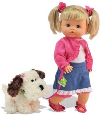 DIMIAN Классическая кукла Dimian Нена с собачкой , 36 см