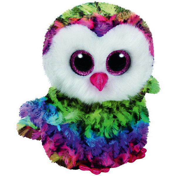 Мягкая игрушка Ty Inc Beanie Boos Совенок Owen, 15 смМягкие игрушки животные<br>Характеристики:<br><br>• возраст: от 3 лет;<br>• тип игрушки: мягкие игрушки;<br>• вес: 200 гр;<br>• высота: 15 см;<br>• материал: плюш, искусственный мех, наполнитель, пластик;<br>• размер: 8,8х14х33 см;<br>• тип упаковки: ярлык;<br>• бренд: Ty.<br><br>Beanie Boos разноцветный совенок по имени Owen от бренда Ty станет отличным подарком для ребенка от трех лет и старше. Совенок Owen входит в серию игрушек «Beanie Boos», которая широко распространена по всему миру и хорошо известна благодаря запоминающимся большим глазам зверюшек, являющихся представителями данной коллекции. Также неофициально многие их называют «Глазастиками».<br><br>Игрушка изготовлена из качественных, нетоксичных материалов, абсолютно безопасных для здоровья малыша. Вместе с такой игрушкой у ребенка будет развиваться фантазия, аккуратность и чувство ответственности. <br><br>Beanie Boos разноцветного совенка по имени Owen от бренда Ty можно купить в нашем интернет-магазине.<br>Ширина мм: 9999; Глубина мм: 9999; Высота мм: 9999; Вес г: 9999; Возраст от месяцев: 36; Возраст до месяцев: 120; Пол: Унисекс; Возраст: Детский; SKU: 7322676;