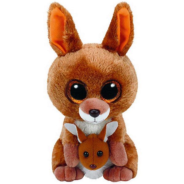 Мягкая игрушка Ty Inc Beanie Boos Кенгуру Kipper, 15 смМягкие игрушки животные<br>Характеристики:<br><br>• возраст: от 3 лет;<br>• тип игрушки: мягкие игрушки;<br>• вес: 200 гр;<br>• высота: 15 см;<br>• материал: плюш, искусственный мех, наполнитель, пластик;<br>• размер: 8,8х14х33 см;<br>• тип упаковки: ярлык;<br>• бренд: Ty.<br><br>Beanie Boos кенгуру по имени Kipper от бренда Ty станет отличным подарком для ребенка от трех лет и старше. Кенгуру Kipper входит в серию игрушек «Beanie Boos», которая широко распространена по всему миру и хорошо известна благодаря запоминающимся большим глазам зверюшек, являющихся представителями данной коллекции. Также неофициально многие их называют «Глазастиками».<br><br>Игрушка изготовлена из качественных, нетоксичных материалов, абсолютно безопасных для здоровья малыша. Вместе с такой игрушкой у ребенка будет развиваться фантазия, аккуратность и чувство ответственности. <br><br>Beanie Boos кенгуру по имени Kipper от бренда Ty можно купить в нашем интернет-магазине.<br>Ширина мм: 9999; Глубина мм: 9999; Высота мм: 9999; Вес г: 9999; Возраст от месяцев: 36; Возраст до месяцев: 120; Пол: Унисекс; Возраст: Детский; SKU: 7322677;