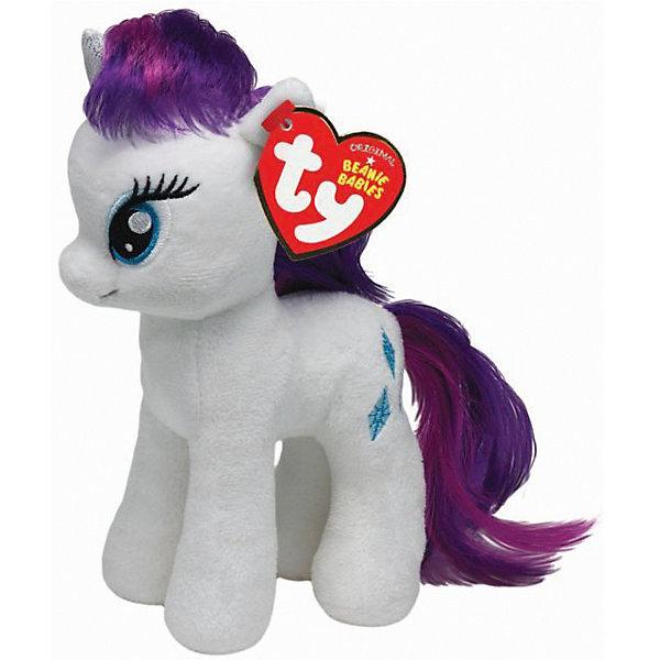 Мягкая игрушка Ty Inc My Little Pony Пони Рарити, 25 смМягкие игрушки из мультфильмов<br>Характеристики:<br><br>• возраст: от 3 лет;<br>• тип игрушки: мульт герои;<br>• высота: 25 см;<br>• материал: пластик, нейлон;<br>• тип упаковки: блистер;<br>• бренд: Ty.<br><br>Пони по имени Rarity из серии My Little Pony от бренда Ty станет отличным подарком для ребенка от трех лет и старше. Игрушка Rarity никого не оставит равнодушными. Игрушка сделана по подобию одной из героинь популярного детского мультсериала «Мой маленький пони».<br><br>У пони большие, добрые глаза, белый окрас и длинные грива и хвост, которые можно причесывать. Так же у нее есть синие белоснежный рог. И, конечно же, отличительный персональный знак на левом боку в виде пары снежинок. С такой игрушкой не захочется расставаться ни днем, ни ночью.<br>Игрушка изготовлена из качественных, нетоксичных материалов, абсолютно безопасных для здоровья малыша. Вместе с такой игрушкой у ребенка будет развиваться фантазия, аккуратность и чувство ответственности. <br><br>Пони по имени Rainbow Dash из серии My Little Pony от бренда Ty можно купить в нашем интернет-магазине.<br><br>Ширина мм: 9999<br>Глубина мм: 9999<br>Высота мм: 9999<br>Вес г: 9999<br>Возраст от месяцев: 36<br>Возраст до месяцев: 120<br>Пол: Унисекс<br>Возраст: Детский<br>SKU: 7322678