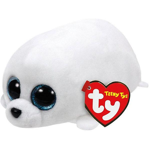 Мягкая игрушка Ty Inc Teeny Tys Тюлень Slippery, 10 смМягкие игрушки животные<br>Характеристики:<br><br>• возраст: от 3 лет;<br>• тип игрушки: мягкие игрушки;<br>• высота: 11 см;<br>• материал: плюш, наполнитель, пластик;<br>• тип упаковки: ярлык;<br>• бренд: Ty.<br><br>Тюлень по имени Slippery из серии «Teeny Tys» от бренда Ty станет отличным подарком для ребенка от трех лет и старше. Это очаровательная и миниатюрная мягкая игрушка белого цвета с большими добрыми глазками, маленькими лапками, забавными ушками и хвостиком. Тюлень по имени Slippery сразу завоюет симпатию крохи, и они обязательно подружатся.<br><br>Тюлень входит в серию игрушек «Teeny Tys», которая широко распространена по всему миру и хорошо известна благодаря запоминающимся большим глазам зверюшек, являющихся представителями данной коллекции, а также их небольшому размеру, позволяющему разместить игрушку на ладони одной руки.<br><br>Игрушка изготовлена из качественных, нетоксичных материалов, абсолютно безопасных для здоровья малыша. Вместе с такой игрушкой у ребенка будет развиваться фантазия, аккуратность и чувство ответственности. <br><br>Тюленя по имени Slippery из серии «Teeny Tys» от бренда Ty можно купить в нашем интернет-магазине.<br>Ширина мм: 9999; Глубина мм: 9999; Высота мм: 9999; Вес г: 9999; Возраст от месяцев: 36; Возраст до месяцев: 120; Пол: Унисекс; Возраст: Детский; SKU: 7322680;