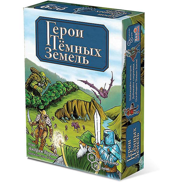 Игра Герои тёмных земельНастольные игры для всей семьи<br>Характеристики:<br><br>• тип игрушки: настольная игра;<br>• комплектация: 148 карт (войска, магия, укрепления), 75 карточек Соратников, 61 шестиугольное поле, монеты, цветные маркеры, правила;<br>• возраст: от 8 лет;<br>• количество игроков: от 4;<br>• размер: 19,5x28x8 см;<br>• бренд: Бэмби;<br>• упаковка: картонная коробка;<br>• материал: картон.<br><br>Настольная игра «Герои тёмных земель» - позволит ребенку увлекательно провести время с друзьями и окунуться в мир, полный магии и удивительных приключений. Если ребенок любит сказочные истории, где отважные рыцари отправляются в опасные походы, сражаются с ужасными орками и циклопами, где волшебники побеждают драконов, такая игра, несомненно, сможет его заинтересовать.<br><br>С помощью специальных карт нужно будет собрать игровое поле, где и будут осуществляться различные действия. Карточки с изображением разнообразных персонажей помогут ребенку сориентироваться в своих действиях. В процессе игры нужно будет зарабатывать очки и получать монеты.<br><br>Настольную игру «Герои тёмных земель» можно купить в нашем интернет-магазине.<br>Ширина мм: 280; Глубина мм: 195; Высота мм: 80; Вес г: 1000; Возраст от месяцев: 96; Возраст до месяцев: 2147483647; Пол: Унисекс; Возраст: Детский; SKU: 7323543;