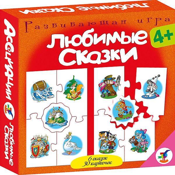 Ассоциации. Любимые сказкиОбучающие карточки<br>Характеристики:<br><br>• тип игрушки: настольная игра;<br>• комплектация: 30 карточек, правила;<br>• возраст: от 4 лет;<br>• размер: 16,5x16,5x3 см;<br>• издатель: Дрофа;<br>• упаковка: картонная коробка;<br>• материал: картон.<br><br>Игра Ассоциации «Любимые сказки»  станет отличным помощником в формировании ассоциативного мышления детей. Игры способствуют развитию внимания и памяти, расширяют кругозор. Во всех играх нужно подобрать карточки, которые можно объединить по определенному признаку. Карточки соединяются друг с другом пазловым замком. Игра включает в себя популярные сказки  «Красная Шапочка», «Дюймовочка», «3олушка», «Буратино», «Колобок».<br><br>Увлекательная игра подойдет для детей от четырех лет и старше. Она позволит провести время с пользой и узнать много нового. Все используемые материалы прошли проверку – они абсолютно безопасны для детей.  Яркая красная упаковка отлично подойдет в качестве подарка к празднику.<br><br>Игру Ассоциации «Любимые сказки»    можно купить в нашем интернет-магазине.<br>Ширина мм: 165; Глубина мм: 165; Высота мм: 30; Вес г: 150; Возраст от месяцев: 48; Возраст до месяцев: 2147483647; Пол: Унисекс; Возраст: Детский; SKU: 7323558;