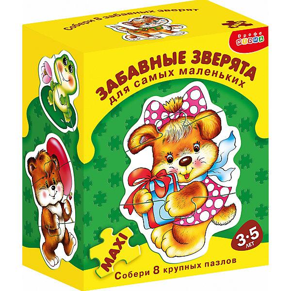 ДСМ.Забавные зверятаПазлы для малышей<br>Характеристики:<br><br>• тип игрушки: настольная игра;<br>• комплектация: восемь персонажей;<br>• возраст: от 3 лет;<br>• размер: 15,5x18х8,5 см;<br>• издатель: Дрофа;<br>• упаковка: картонная коробка;<br>• материал: картон.<br><br>Игра «ДСМ. Забавные зверята» совсем не сложная и в то же время очень увлекательная. Игра прекрасно подходит для первого знакомства ребенка с мозаикой, способствует формированию навыка соединения целого изображения из двух-трёх элементов.<br><br>В игре набор из восьми персонажей разных симпатичных животных, состоящих из крупных деталей, которые соединяются с помощью пазлового замка. Игры этой серии помогают в развитии зрительного восприятия, мелкой моторики и координации движений рук, наглядно-образного мышления, памяти и внимания.<br><br>Игру «ДСМ. Забавные зверята» можно купить в нашем интернет-магазине.<br>Ширина мм: 155; Глубина мм: 180; Высота мм: 85; Вес г: 185; Возраст от месяцев: 36; Возраст до месяцев: 2147483647; Пол: Унисекс; Возраст: Детский; SKU: 7323566;