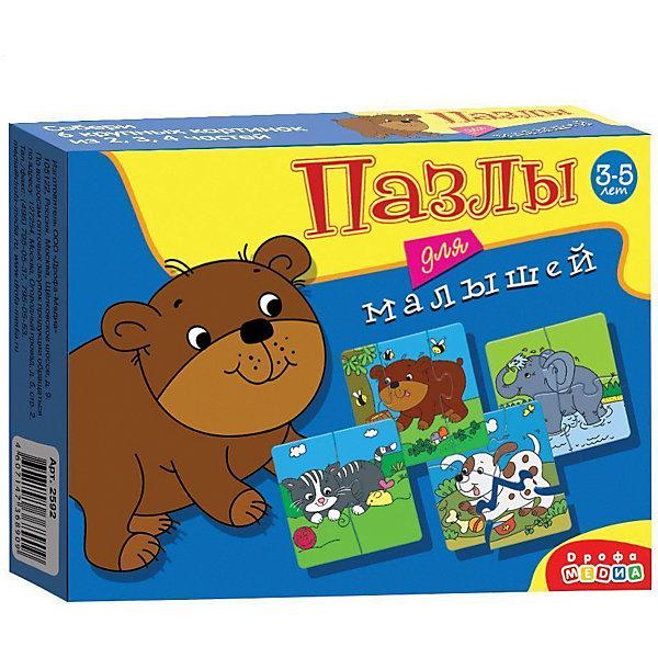 Играй и собирай. Пазлы для малышей. Арт. 2592Пазлы для малышей<br>Характеристики:<br><br>• тип игрушки: мозаика;<br>• комплектация: шесть мозаик;                                                                <br>• возраст: от 3 лет;<br>• размер: 17x13х3 см;<br>• издатель: Дрофа;<br>• упаковка: картонная коробка;<br>• материал: картон.<br><br>Игра-мозаика «Играй и собирай. Пазлы для малышей» совсем не сложная и в то же время очень увлекательная. В комплект игры входит шесть карточек с тематическими изображениями. С этим пазлом ребенок сможет собрать медвежонка и его друзей. Каждая карточка собирается из различных фрагментов. <br><br>Игра прекрасно подходит для первого знакомства малыша с мозаикой, способствует формированию навыка соединения целого изображения из двух, трёх и четырёх элементов. Игры этой серии помогают в развитии зрительного восприятия, мелкой моторики и координации движений рук, наглядно-образного мышления, памяти и внимания. <br><br>Игру-мозаику «Играй и собирай. Пазлы для малышей» можно купить в нашем интернет-магазине.<br>Ширина мм: 170; Глубина мм: 130; Высота мм: 30; Вес г: 120; Возраст от месяцев: 36; Возраст до месяцев: 2147483647; Пол: Унисекс; Возраст: Детский; SKU: 7323581;