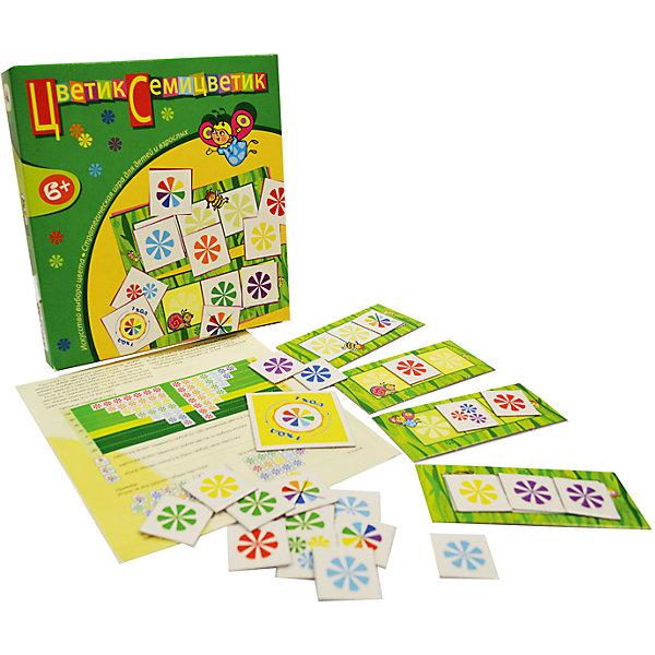 Игротека. Цветик-семицветикНастольные игры для всей семьи<br>Характеристики:<br><br>• тип игрушки: настольная игра;<br>• возраст: от 6 лет;<br>• комплектация: 4 игровых поля, 73 карточки, правила;<br>• размер: 19x20х3 см;<br>• издатель: Дрофа;<br>• упаковка: картонная коробка;<br>• материал: картон.<br><br>Игра «Игротека. Цветик-семицветик» разработана для детей от 6 лет.  В этой динамичной и весёлой игре вам предстоит собирать «букеты» из цветиков-семицветиков так, чтобы получившаяся комбинация принесла наибольшее количество очков. Будьте внимательны — соперники могут испортить все ваши планы.<br><br> Игра развивает логическое мышление, внимание, умение учитывать интересы соперников. В комплекте можно найти четыре игровых поля и карточки, а с помощью подробной инструкции с правилами игры будет очень легко собрать необходимый букет из бумажных цветов, который поможет выиграть.<br><br>Игру «Игротека. Цветик-семицветик» можно купить в нашем интернет-магазине.<br>Ширина мм: 190; Глубина мм: 200; Высота мм: 30; Вес г: 160; Возраст от месяцев: 72; Возраст до месяцев: 2147483647; Пол: Унисекс; Возраст: Детский; SKU: 7323591;