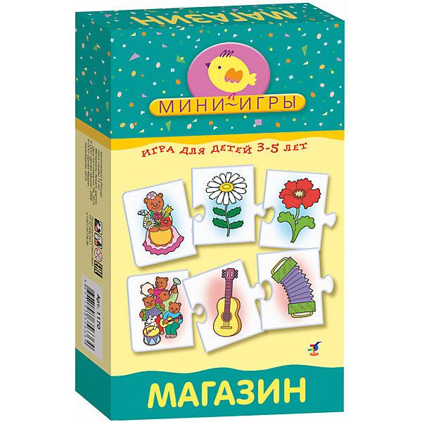 МИ. Магазин.Обучающие карточки<br>Характеристики:<br><br>• тип игрушки: натольная;<br>• комплектация: 30 карточек, правила;                                                                <br>• возраст: от 3 лет;<br>• размер: 12x20х3,5 см;<br>• издатель: Дрофа;<br>• упаковка: картонная коробка;<br>• материал: картон.<br><br>Игра «МИ. Магазин» совсем не сложная и в то же время очень увлекательная. В комплект игры входит 30 карточек с тематическими изображениями и правила. Игра представляет собой готовые к использованию, разрезанные карточки с пояснениями на обратной стороне. <br><br>Игра учит объединять предметы в группы и называть их обобщающим словом, знакомит с группами товаров разных отделов магазина, развивает наблюдательность, мышление, восприятие, расширяет словарный запас. Элементы самопроверки позволят малышу самостоятельно оценивать правильность выполнения своих действий. <br><br>Все материалы, из которых изготовлены карточки, являются гипоаллергенными и прошли все необходимые для детских игрушек проверки на соответствие стандартам качества. <br><br>Игру «МИ. Магазин» можно купить в нашем интернет-магазине.<br>Ширина мм: 120; Глубина мм: 200; Высота мм: 35; Вес г: 200; Возраст от месяцев: 36; Возраст до месяцев: 2147483647; Пол: Унисекс; Возраст: Детский; SKU: 7323606;