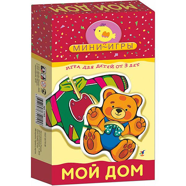 МИ. Мой дом.Обучающие карточки<br>Характеристики:<br><br>• тип игрушки: настольная;<br>• комплектация: 11 фигурок из двух частей, правила;                                                                <br>• возраст: от 3 лет;<br>• размер: 12x20х3,5 см;<br>• издатель: Дрофа;<br>• упаковка: картонная коробка;<br>• материал: картон.<br><br>Игра «МИ. Мой дом» совсем не сложная и в то же время очень увлекательная. В комплект игры входит 11 фигурок из двух частей с тематическими изображениями и правила. Игра представляет собой готовые к использованию, разрезанные карточки с пояснениями на обратной стороне. <br><br>Игра учит находить недостающие детали, складывать целое изображение из двух частей, знакомит ребёнка с предметами быта: одеждой, игрушками, посудой, мебелью, развивает зрительное восприятие, мелкую моторику рук и координацию движений. Элементы самопроверки позволят малышу самостоятельно оценивать правильность выполнения своих действий. <br><br>Все материалы, из которых изготовлены карточки, являются гипоаллергенными и прошли все необходимые для детских игрушек проверки на соответствие стандартам качества. <br><br>Игру «МИ. Мой дом» можно купить в нашем интернет-магазине.<br>Ширина мм: 120; Глубина мм: 200; Высота мм: 35; Вес г: 150; Возраст от месяцев: 36; Возраст до месяцев: 2147483647; Пол: Унисекс; Возраст: Детский; SKU: 7323607;