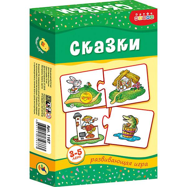 МИ. Сказки.Обучающие карточки<br>Характеристики:<br><br>• тип игрушки: настольная;<br>• комплектация: 20 карточек, правила;                                                                <br>• возраст: от 3 лет;<br>• размер: 12x20х3,5 см;<br>• издатель: Дрофа;<br>• упаковка: картонная коробка;<br>• материал: картон.<br><br>Игра «МИ. Сказки» совсем не сложная и в то же время очень увлекательная. В комплект игры входит 20 карточек и правила. Игра представляет собой готовые к использованию, разрезанные карточки с пояснениями на обратной стороне. <br>Игра учит находить и соединять карточки с героями одной сказки, развивает активную речь, память, внимание, учит составлять рассказы по картинкам, совершенствует мелкую моторику рук.<br><br> Все материалы, из которых изготовлены карточки, являются гипоаллергенными и прошли все необходимые для детских игрушек проверки на соответствие стандартам качества. <br><br>Игру «МИ. Сказки» можно купить в нашем интернет-магазине.<br>Ширина мм: 120; Глубина мм: 200; Высота мм: 35; Вес г: 140; Возраст от месяцев: 36; Возраст до месяцев: 2147483647; Пол: Унисекс; Возраст: Детский; SKU: 7323614;