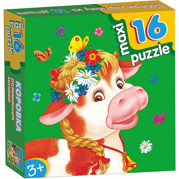 Развивающая мозаика. КоровкаПазлы для малышей<br>Характеристики:<br><br>• тип игрушки: настольная игра;<br>• комплектация: 16 деталей;                                                                <br>• возраст: от 3 лет;<br>• размер: 16,5x16,5х3 см;<br>• издатель: Дрофа;<br>• упаковка: картонная коробка;<br>• материал: картон.<br><br>Игра «Развивающая мозаика. Коровка» разработана для детей от 3 лет. Крупные и яркие детали мозаики привлекут внимание даже самых маленьких детей. Собирая картинку из 16 частей, малыш учится соотносить отдельные элементы и целое изображение, подбирать фрагменты по цвету и форме. <br><br>Игра развивает наблюдательность, усидчивость, зрительное восприятие. Постоянно манипулируя деталями мозаики, ребёнок совершенствует мелкую моторику рук. Кроме того, каждый малыш испытает восторг, доведя дело до конца. Крупные детали не потеряются и легко скрепляются между собой.<br><br>Игру «Развивающая мозаика. Коровка» можно купить в нашем интернет-магазине.<br><br>Ширина мм: 165<br>Глубина мм: 165<br>Высота мм: 30<br>Вес г: 165<br>Возраст от месяцев: 36<br>Возраст до месяцев: 2147483647<br>Пол: Унисекс<br>Возраст: Детский<br>SKU: 7323651