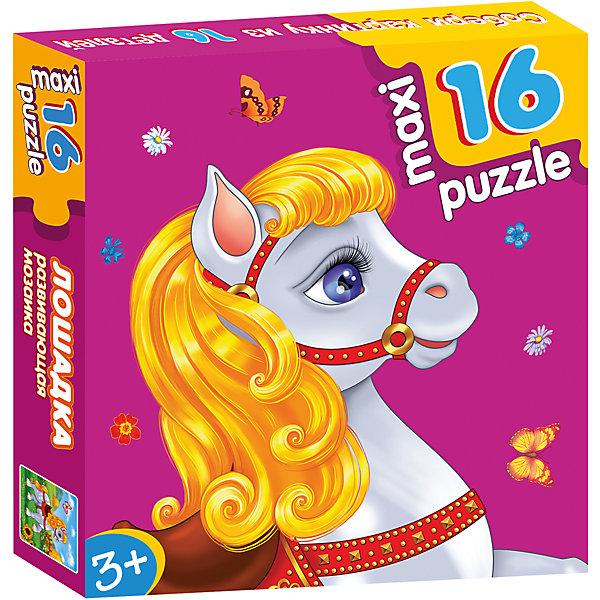 Развивающая мозаика. ЛошадкаПазлы для малышей<br>Характеристики:<br><br>• тип игрушки: настольная игра;<br>• комплектация: 16 деталей;                                                                <br>• возраст: от 3 лет;<br>• размер: 16,5x16,5х3 см;<br>• издатель: Дрофа;<br>• упаковка: картонная коробка;<br>• материал: картон.<br><br>Игра «Развивающая мозаика. Лошадка» разработана для детей от 3 лет. Крупные и яркие детали мозаики привлекут внимание даже самых маленьких детей. Собирая картинку из 16 частей, малыш учится соотносить отдельные элементы и целое изображение, подбирать фрагменты по цвету и форме. <br><br>Игра развивает наблюдательность, усидчивость, зрительное восприятие. Постоянно манипулируя деталями мозаики, ребёнок совершенствует мелкую моторику рук. Кроме того, каждый малыш испытает восторг, доведя дело до конца. Крупные детали не потеряются и легко скрепляются между собой.<br><br>Игру «Развивающая мозаика. Лошадка» можно купить в нашем интернет-магазине.<br><br>Ширина мм: 165<br>Глубина мм: 165<br>Высота мм: 30<br>Вес г: 170<br>Возраст от месяцев: 36<br>Возраст до месяцев: 2147483647<br>Пол: Унисекс<br>Возраст: Детский<br>SKU: 7323652