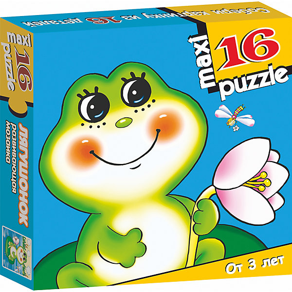 Развивающая мозаика. ЛягушонокПазлы для малышей<br>Характеристики:<br><br>• тип игрушки: настольная игра;<br>• комплектация: 16 деталей;                                                                <br>• возраст: от 3 лет;<br>• размер: 16,5x16,5х3 см;<br>• издатель: Дрофа;<br>• упаковка: картонная коробка;<br>• материал: картон.<br><br>Игра «Развивающая мозаика. Лягушонок» разработана для детей от 3 лет. Крупные и яркие детали мозаики привлекут внимание даже самых маленьких детей. Собирая картинку из 16 частей, малыш учится соотносить отдельные элементы и целое изображение, подбирать фрагменты по цвету и форме. <br><br>Игра развивает наблюдательность, усидчивость, зрительное восприятие. Постоянно манипулируя деталями мозаики, ребёнок совершенствует мелкую моторику рук. Кроме того, каждый малыш испытает восторг, доведя дело до конца. Крупные детали не потеряются и легко скрепляются между собой.<br><br>Игру «Развивающая мозаика. Лягушонок» можно купить в нашем интернет-магазине.<br><br>Ширина мм: 165<br>Глубина мм: 165<br>Высота мм: 30<br>Вес г: 165<br>Возраст от месяцев: 36<br>Возраст до месяцев: 2147483647<br>Пол: Унисекс<br>Возраст: Детский<br>SKU: 7323653