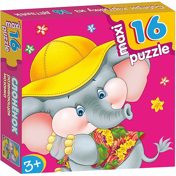 Развивающая мозаика. СлонёнокПазлы для малышей<br>Характеристики:<br><br>• тип игрушки: настольная игра;<br>• комплектация: 16 деталей;                                                                <br>• возраст: от 3 лет;<br>• размер: 16,5x16,5х3 см;<br>• издатель: Дрофа;<br>• упаковка: картонная коробка;<br>• материал: картон.<br><br>Игра «Развивающая мозаика.Слоненок» разработана для детей от 3 лет. Крупные и яркие детали мозаики привлекут внимание даже самых маленьких детей. Собирая картинку из 16 частей, малыш учится соотносить отдельные элементы и целое изображение, подбирать фрагменты по цвету и форме. <br><br>Игра развивает наблюдательность, усидчивость, зрительное восприятие. Постоянно манипулируя деталями мозаики, ребёнок совершенствует мелкую моторику рук. Кроме того, каждый малыш испытает восторг, доведя дело до конца. Крупные детали не потеряются и легко скрепляются между собой.<br><br>Игру «Развивающая мозаика. Слоненок» можно купить в нашем интернет-магазине.<br><br>Ширина мм: 165<br>Глубина мм: 165<br>Высота мм: 30<br>Вес г: 160<br>Возраст от месяцев: 36<br>Возраст до месяцев: 2147483647<br>Пол: Унисекс<br>Возраст: Детский<br>SKU: 7323655