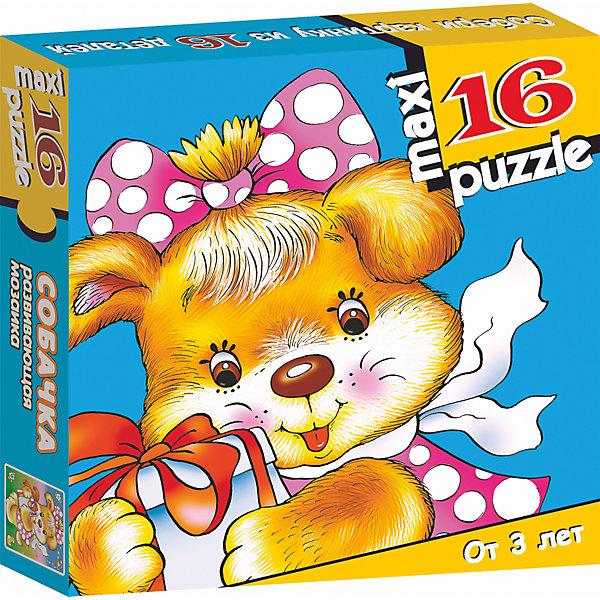 Развивающая мозаика. СобачкаПазлы для малышей<br>Характеристики:<br><br>• тип игрушки: настольная игра;<br>• комплектация: 16 деталей;                                                                <br>• возраст: от 3 лет;<br>• размер: 16,5x16,5х3 см;<br>• издатель: Дрофа;<br>• упаковка: картонная коробка;<br>• материал: картон.<br><br>Игра «Развивающая мозаика.Собачка» разработана для детей от 3 лет. Крупные и яркие детали мозаики привлекут внимание даже самых маленьких детей. Собирая картинку из 16 частей, малыш учится соотносить отдельные элементы и целое изображение, подбирать фрагменты по цвету и форме. <br><br>Игра развивает наблюдательность, усидчивость, зрительное восприятие. Постоянно манипулируя деталями мозаики, ребёнок совершенствует мелкую моторику рук. Кроме того, каждый малыш испытает восторг, доведя дело до конца. Крупные детали не потеряются и легко скрепляются между собой.<br><br>Игру «Развивающая мозаика. Собачка» можно купить в нашем интернет-магазине.<br><br>Ширина мм: 165<br>Глубина мм: 165<br>Высота мм: 30<br>Вес г: 150<br>Возраст от месяцев: 36<br>Возраст до месяцев: 2147483647<br>Пол: Унисекс<br>Возраст: Детский<br>SKU: 7323656