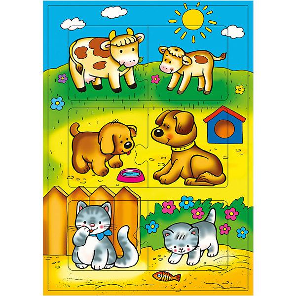 РР. А у нас во дворе.Пазлы для малышей<br>Характеристики:<br><br>• тип игрушки: настольная игра;<br>• комплектация: детали;                                                                <br>• возраст: от 2 лет;<br>• размер: 28,5x20х3 см;<br>• издатель: Дрофа;<br>• упаковка: картонная коробка;<br>• материал: картон.<br><br>Игра «РР. А у нас во дворе.» разработана для детей от 2 лет. С разрезными картинками малыш научится подбирать подходящие по форме фрагменты рисунка и складывать их в целое изображение. Элементы мозаики выкладываются на рамку, которая поможет малышу видеть, что он делает правильно, а над чем ещё нужно подумать. Контуры деталей собираемой картинки, повторяющиеся на рамке, позволят не ошибиться в подборе правильного элемента, а картинка-подсказка поможет справиться с заданием самостоятельно.<br><br>Игры научат ребёнка усидчивости, умению доводить начатое дело до конца, помогут развить внимание, память, образное и логическое мышление, сенсорно-моторную координацию движения рук. Разная величина и форма собираемых элементов картинки способствуют развитию мелкой моторики, которая напрямую влияет на развитие речи и интеллектуальных способностей. В дальнейшем хорошая координация движений рук поможет ребёнку легко овладеть письмом. <br><br>Игру «РР. А у нас во дворе.» можно купить в нашем интернет-магазине.<br><br>Ширина мм: 285<br>Глубина мм: 200<br>Высота мм: 3<br>Вес г: 120<br>Возраст от месяцев: 24<br>Возраст до месяцев: 2147483647<br>Пол: Унисекс<br>Возраст: Детский<br>SKU: 7323659