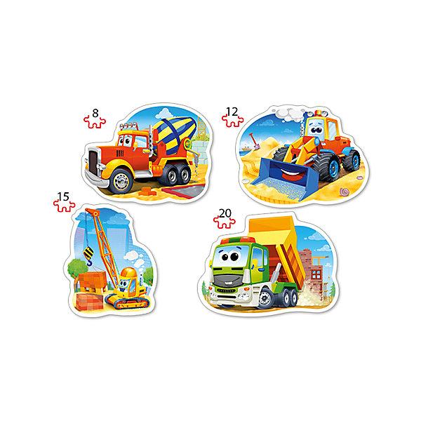 Пазл 4 в 1 Castorland Стройтранспорт, 8/12/15/20 деталейПазлы для малышей<br>Характеристики товара:<br><br>• возраст: от 3 лет;<br>• количество деталей: 55 шт; <br>• комплект: 4 картинки;<br>• из чего сделана игрушка (состав): картон;<br>• размер упаковки: 24,5х17,5х3,7 см;<br>• упаковка: картонная коробка;<br>• вес: 200 гр.;<br>• страна производителя: Польша.<br><br>С увлекательным пазлом Стройтранспорт ребенок сможет собрать 4 картинки с изображением строительного транспорта. Чтобы выложить 4 картинки, ребенку предоставляется 55 элементов. Собрать их не составит никакого труда, ведь все детали пазла соединяются между собой легко и быстро. Сделаны они из плотного картона, который позволит выкладывать картины неоднократно.<br> <br>Пазл 4 в 1 «Стройтранспорт» от бренда Castroland можно купить в нашем интернет-магазине.<br><br>Ширина мм: 245<br>Глубина мм: 175<br>Высота мм: 37<br>Вес г: 200<br>Возраст от месяцев: 36<br>Возраст до месяцев: 2147483647<br>Пол: Унисекс<br>Возраст: Детский<br>SKU: 7323849